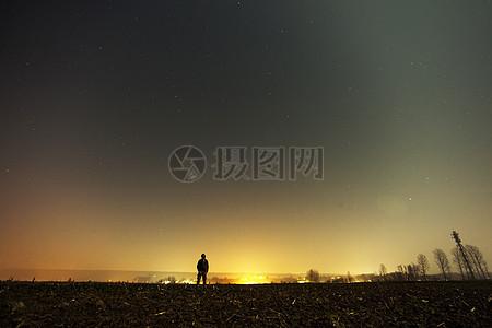 天空人人夜晚星星孤独孤独星光灿烂